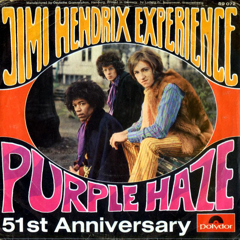 Discographie : 45 Tours : SP,  EP,  Maxi 45 tours - Page 3 1967%20Polydor59072-PurpleHaze-51stAnniversaryBack