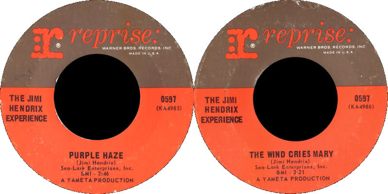 Discographie : 45 Tours : SP,  EP,  Maxi 45 tours - Page 4 1967%20Reprise%200597-PurpleHaze-TheWindCriesMary