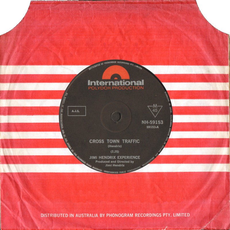 Discographie : 45 Tours : SP,  EP,  Maxi 45 tours 1968%20Polydor%20International%20NH-59153-CrosstownTraffic