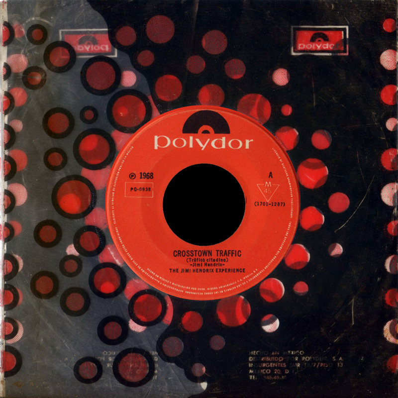 Discographie : 45 Tours : SP,  EP,  Maxi 45 tours 1968%20Polydor%20PO-0938-CrosstownTraffic-GypsyEyesFront