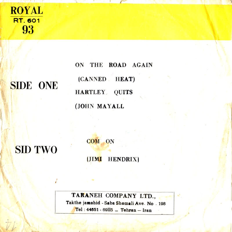 Discographie : 45 Tours : SP,  EP,  Maxi 45 tours - Page 6 1968%20Royal%20RT601-ComeOnBackIran