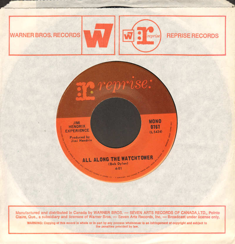 Discographie : 45 Tours : SP,  EP,  Maxi 45 tours - Page 12 1968-Reprise0767-AllAlongTheWatchtowerMono
