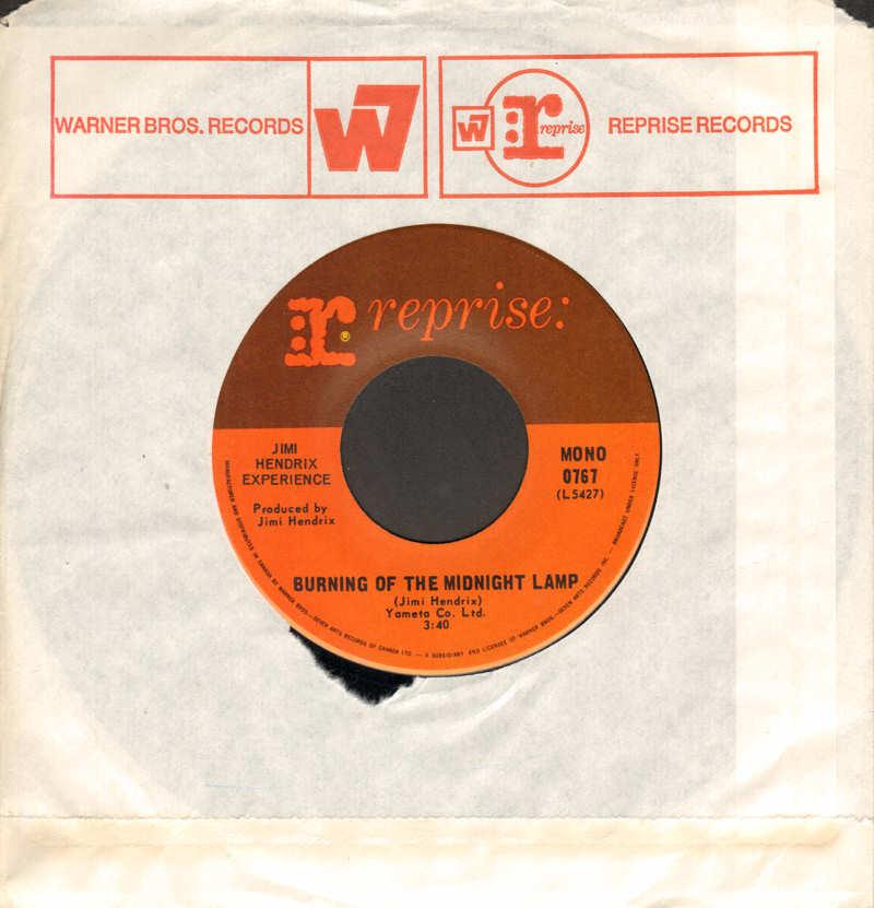 Discographie : 45 Tours : SP,  EP,  Maxi 45 tours - Page 12 1968-Reprise0767-BurningOfTheMidnightLampMono