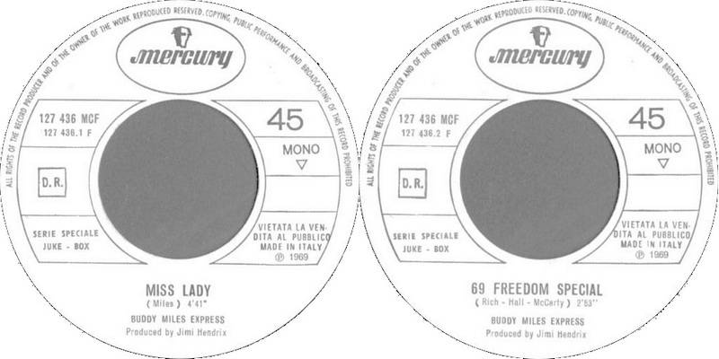 Discographie : 45 Tours : SP,  EP,  Maxi 45 tours - Page 11 1969%20Mercury%20127.436%20-%20Buddy%20Miles%20Express
