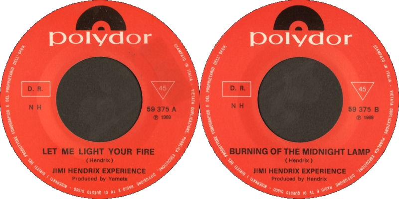 Discographie : 45 Tours : SP,  EP,  Maxi 45 tours - Page 10 1969%20Polydor%20NH59375-LetMeLightYourFire-BurningOfTheMidnightLampLabel