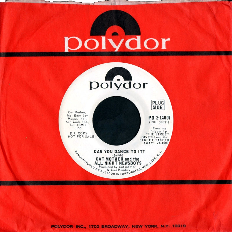 Discographie : 45 Tours : SP,  EP,  Maxi 45 tours - Page 11 1969%20Polydor%20PD2-14007-CatMothersampTheAllNightNewsboys-CanYouDanceToIt-MarieA