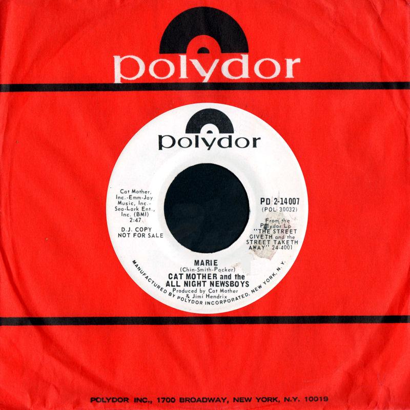 Discographie : 45 Tours : SP,  EP,  Maxi 45 tours - Page 11 1969%20Polydor%20PD2-14007-CatMothersampTheAllNightNewsboys-CanYouDanceToIt-MarieB