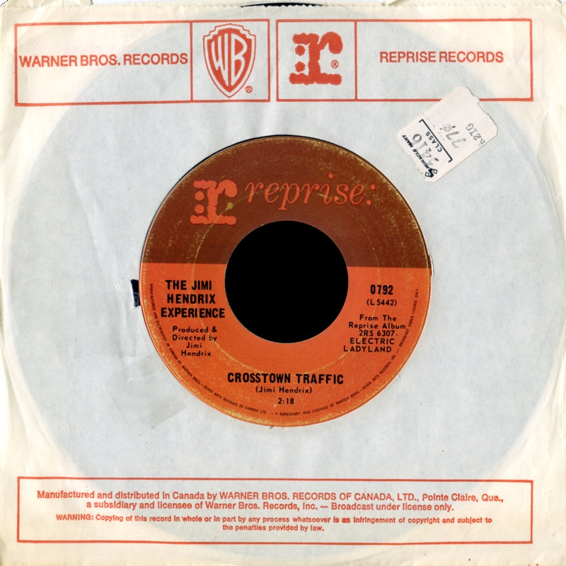 Discographie : 45 Tours : SP,  EP,  Maxi 45 tours 1969%20Reprise%200792-CrosstownTraffic-GypsyEyesCanadaA