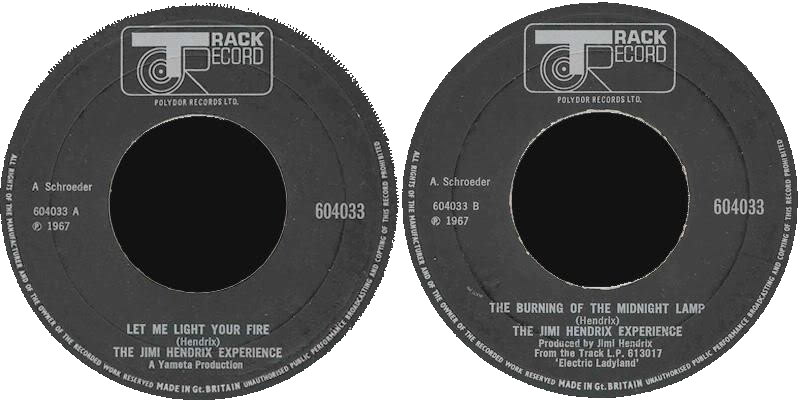 Discographie : 45 Tours : SP,  EP,  Maxi 45 tours - Page 4 1969%20Track%20604033-LetMeLightYourFire-TheBurningOfTheMidnightLamp