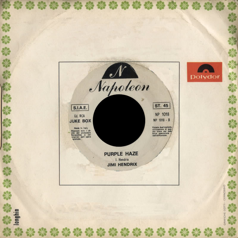 Discographie : 45 Tours : SP,  EP,  Maxi 45 tours - Page 8 1970%20NapoleonNP1018PurpleHaze-HighwayChileBack