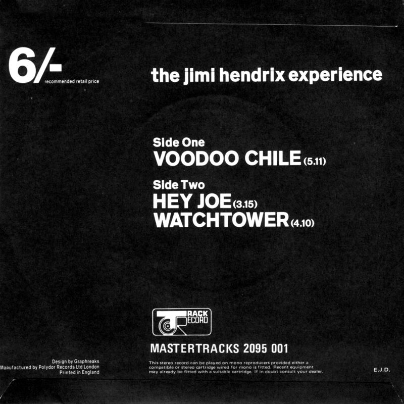 Discographie : 45 Tours : SP,  EP,  Maxi 45 tours 1970%20Polydor%202095001VoodooChile-HeyJoe-AllAlongTheWatchtowerBack
