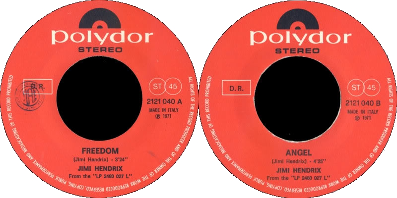 Discographie : 45 Tours : SP,  EP,  Maxi 45 tours - Page 6 1971%20Polydor%202121040-Freedom-AngelLabelItalie
