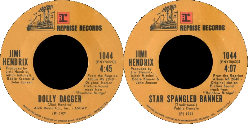 Discographie : 45 Tours : SP,  EP,  Maxi 45 tours 1971%20Reprise%201044-DollyDagger-StarSpangledBanner
