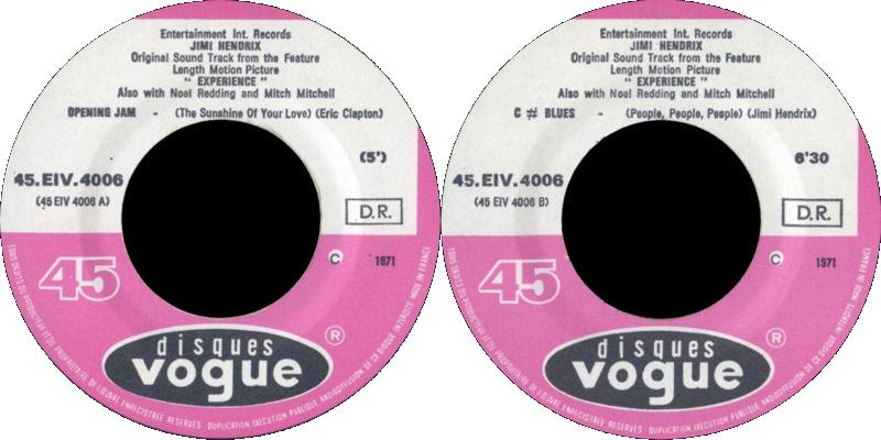 Discographie : 45 Tours : SP,  EP,  Maxi 45 tours - Page 9 1971%20Vogue%20EIV4006-OpeningJam-CBluesLabel