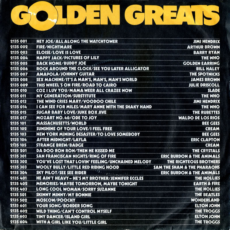 Discographie : 45 Tours : SP,  EP,  Maxi 45 tours - Page 6 1972%20Polydor2135013%20GoldenGreats-TheWindCriesMary-VoodooChileBack