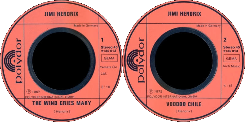 Discographie : 45 Tours : SP,  EP,  Maxi 45 tours - Page 6 1972%20Polydor2135013%20GoldenGreats-TheWindCriesMary-VoodooChileLabel