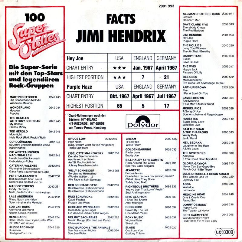 Discographie : 45 Tours : SP,  EP,  Maxi 45 tours - Page 3 1980%20Polydor%202001993-HeyJoe-PurpleHazeBackGermany