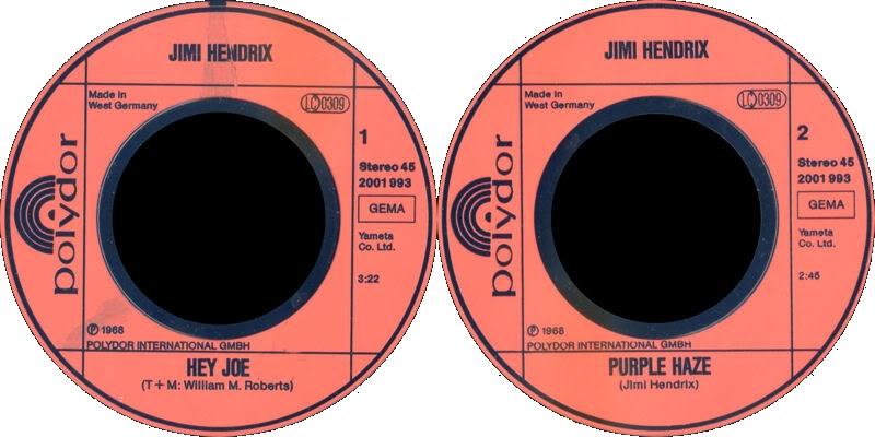 Discographie : 45 Tours : SP,  EP,  Maxi 45 tours - Page 3 1980%20Polydor%202001993-HeyJoe-PurpleHazeLabel%20Germany