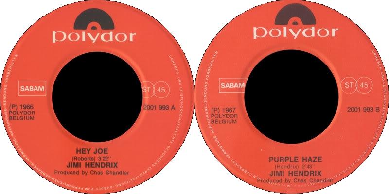 Discographie : 45 Tours : SP,  EP,  Maxi 45 tours - Page 8 1980%20Polydor%202001993-HeyJoePurpleHazeLabel%20Belgique