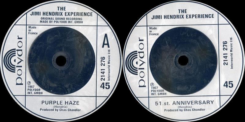 Discographie : 45 Tours : SP,  EP,  Maxi 45 tours - Page 4 1980%20Polydor%202141276-PurpleHaze-51stAnniversary