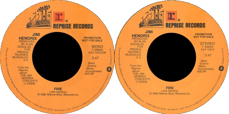 Discographie : 45 Tours : SP,  EP,  Maxi 45 tours 1982%20Reprise%207-29845-Firemono-Firestereo