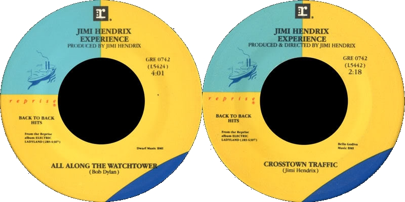 Discographie : 45 Tours : SP,  EP,  Maxi 45 tours - Page 3 1983%20Reprise%20GRE0742AllAlongTheWatchtower-CrosstownTraffic
