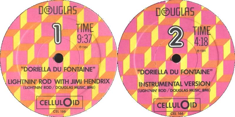 Discographie : 45 Tours : SP,  EP,  Maxi 45 tours - Page 3 1984%20CelluLoid%20CEL166-DoriellaDuFontaineLabel
