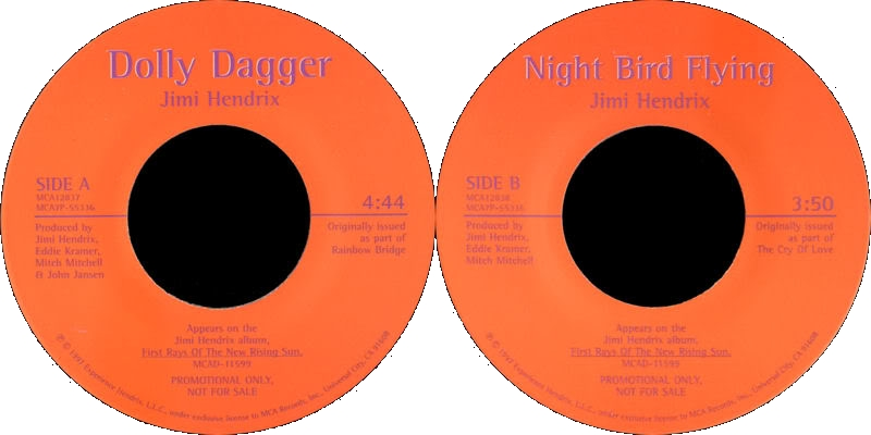 Discographie : 45 Tours : SP,  EP,  Maxi 45 tours - Page 8 1997%20MCA%207P-55336-DollyDagger-NightBirdFlyingLabel