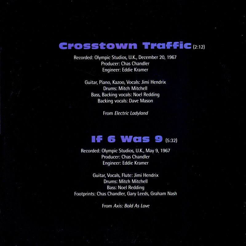 Discographie : 45 Tours : SP,  EP,  Maxi 45 tours - Page 3 1998%20Experience%20Hendrix%20RTH-1007-CrosstownTraffic-If6Was9Back