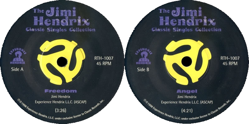 Discographie : 45 Tours : SP,  EP,  Maxi 45 tours - Page 3 1998%20Experience%20Hendrix%20RTH-1007-Freedom-AngelLabel