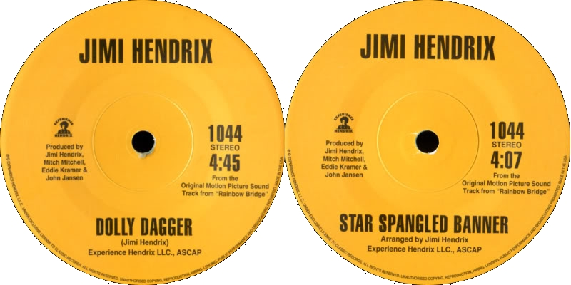 Discographie : 45 Tours : SP,  EP,  Maxi 45 tours 2004%20ExperienceHendrix1044%20DollyDagger-StarSpangledBannerlabel