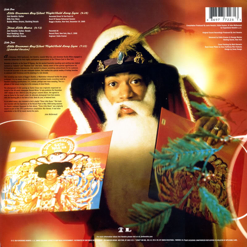 Discographie : 45 Tours : SP,  EP,  Maxi 45 tours - Page 3 2010%20Experience%20Hendrix%208869777228%20MerryChristmasAndHappyNewYearBack