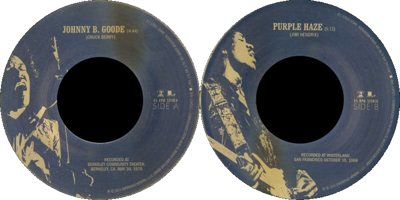 Discographie : 45 Tours : SP,  EP,  Maxi 45 tours - Page 6 2011%20Experience%20Hendrix%20886979362178%20JohnnyBGoode-PurpleHazeLabel