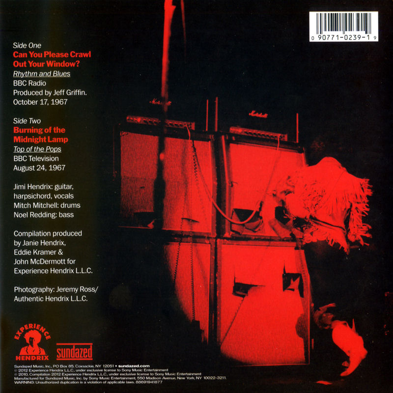 Discographie : 45 Tours : SP,  EP,  Maxi 45 tours - Page 9 2012%20Sundazed%20S239-CanYouPleaseCrawlOutYourWindow-BurningOfTheMidnightLampBack