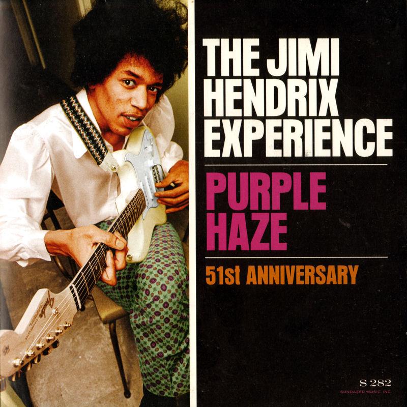 Discographie : 45 Tours : SP,  EP,  Maxi 45 tours 2014%20Sundazed%20S282-PurpleHaze-51stAnniversaryFront