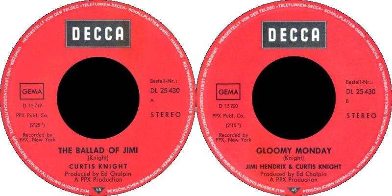 Discographie : Enregistrements pré-Experience & Ed Chalpin  - Page 4 DeccaDL25430-TheBalladOfJimiLabel