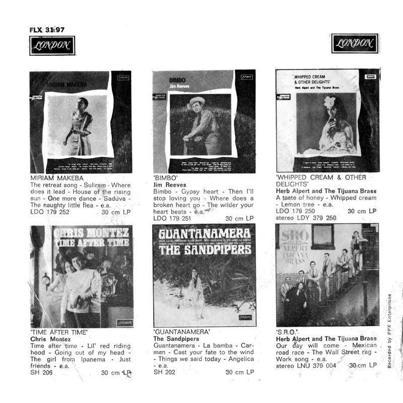 Discographie : Enregistrements pré-Experience & Ed Chalpin  - Page 7 LondonFLX3197-HushNow-FlashingBack
