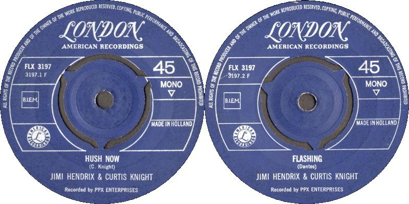 Discographie : Enregistrements pré-Experience & Ed Chalpin  - Page 7 LondonFLX3197-HushNow-FlashingLabel