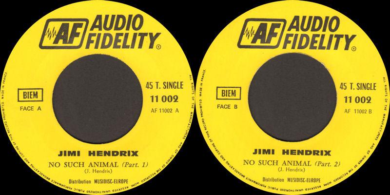 Discographie : Enregistrements pré-Experience & Ed Chalpin  SPAudioFidelity11.002NoSuchAnimalLabel