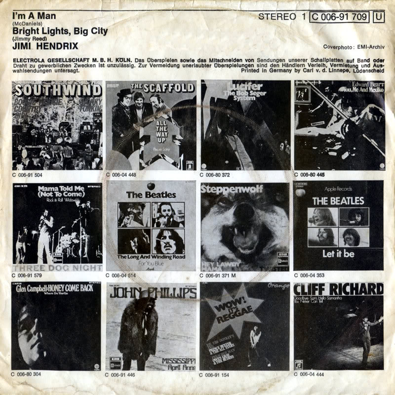 Discographie : Enregistrements pré-Experience & Ed Chalpin  - Page 4 Stateside1C-006-91709-ImAMan-BrightLigtsBigCityBack
