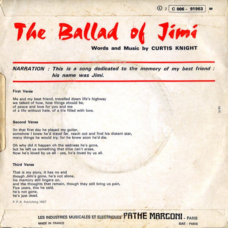 Discographie : Enregistrements pré-Experience & Ed Chalpin  - Page 4 Stateside2C006-91963-TheBalladOfJimiBack