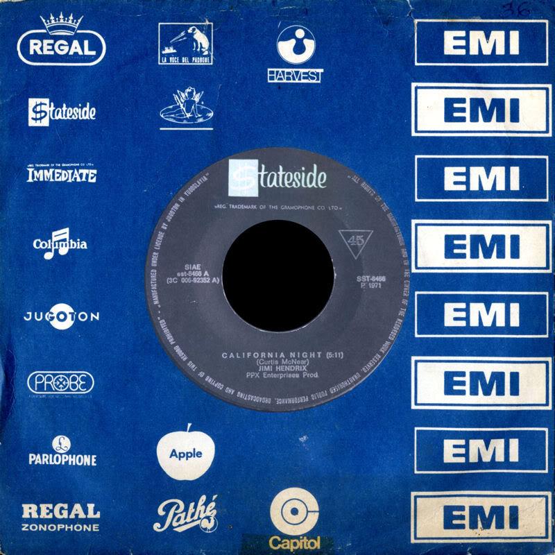 Discographie : Enregistrements pré-Experience & Ed Chalpin  - Page 3 Statesidesst-8466-CaliforniaNightYougoslavie