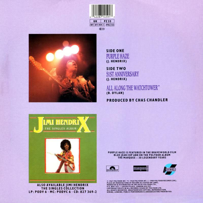 Discographie : 45 Tours : SP,  EP,  Maxi 45 tours - Page 2 PZ33-PurpleHaze-51stAnniversary-AllAlongTheWatchtowerback