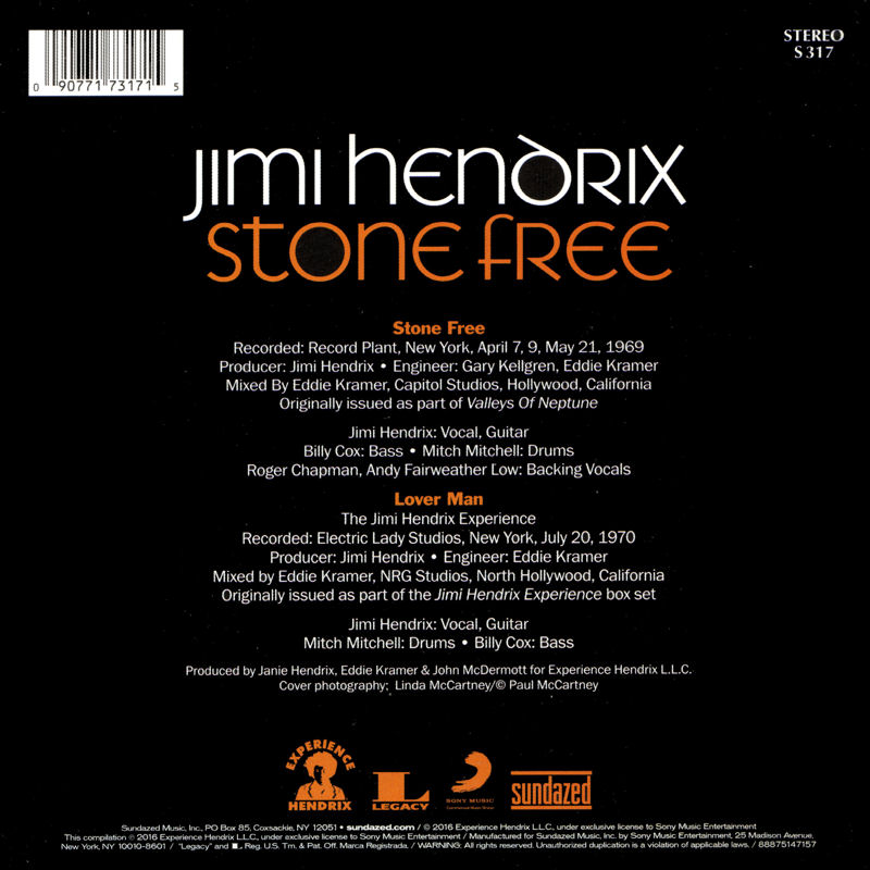 Discographie : 45 Tours : SP,  EP,  Maxi 45 tours - Page 11 Sundazed-S317-StoneFreeLoverManBack
