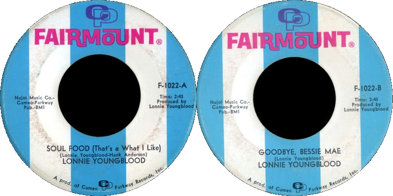 Discographie : Enregistrements pré-Experience & Ed Chalpin  - Page 4 FairmountF1022-LonnieYoungblood-GoodbyeBessieMae