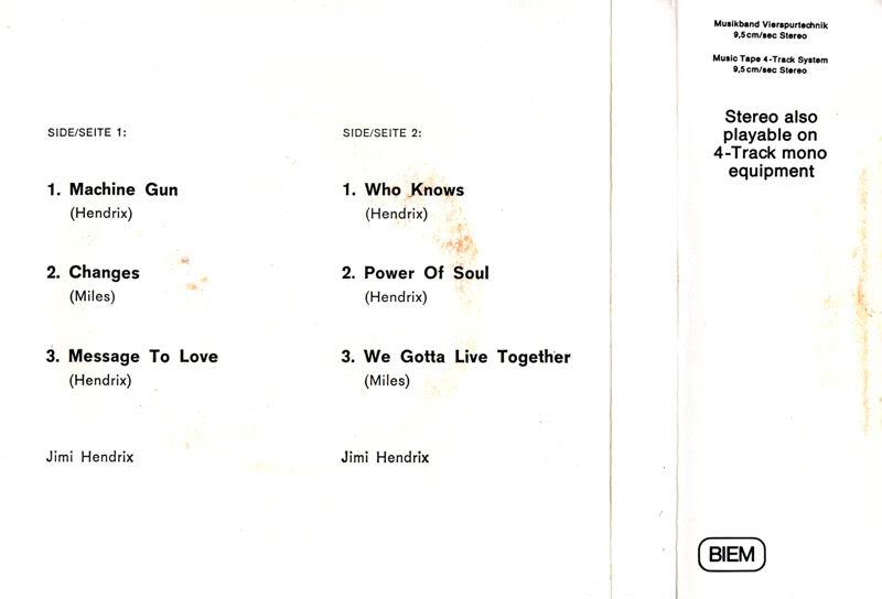 Discographie : Rééditions & Compilations - Page 5 BandOfGypsysReeltoReelGermanyBack