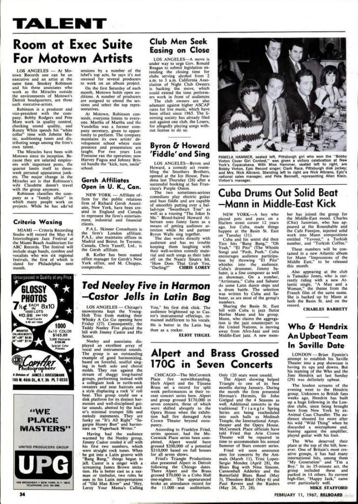 Magazines Américains Billboard11fevrier1967J_page34_image1