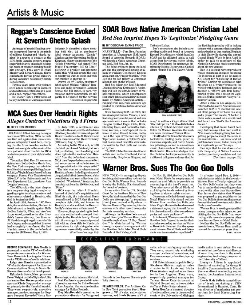Magazines Américains - Page 3 Billboard11janvier1997_page12_image1