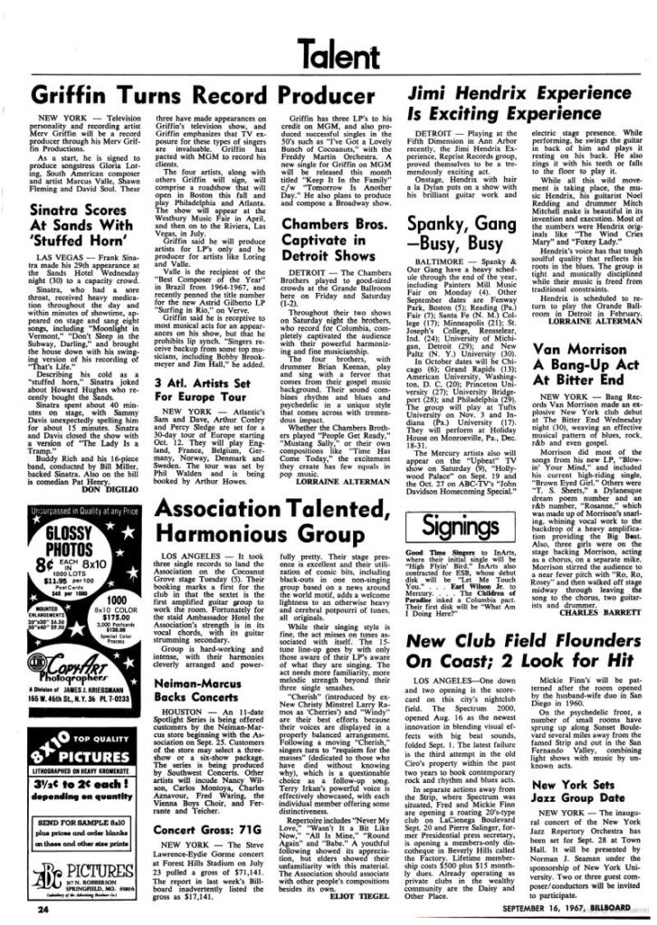 Magazines Américains Billboard16septembre1967_page24_image1