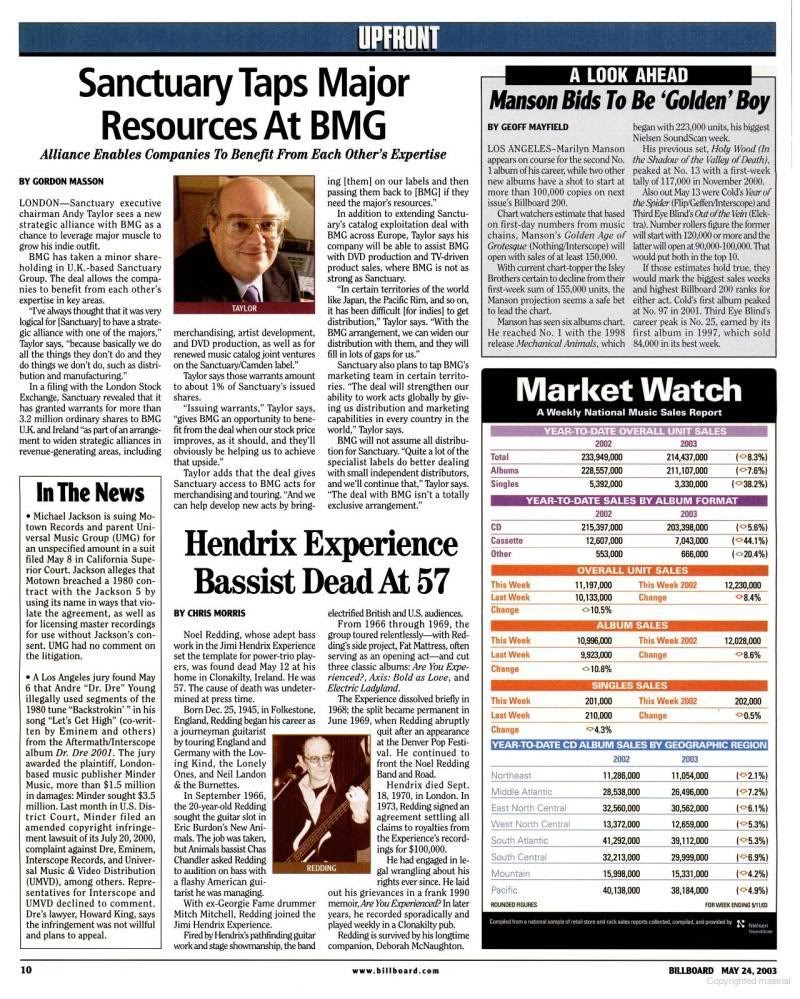 Magazines Américains - Page 4 Billboard24mai2003_page10_image1